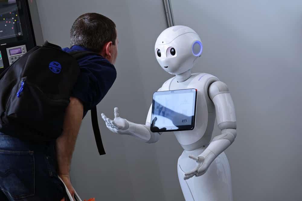 inteligência artificial em máquinas, robôs  e dispositivos