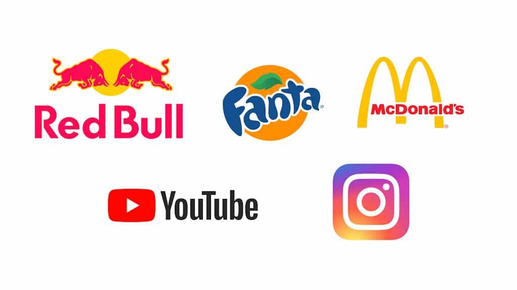 Marcas: Fanta Redbull Mcdonald's Youtube Instagram